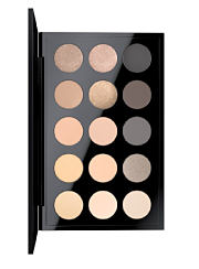 A palette of eye shadow in various shades. Shop palettes.