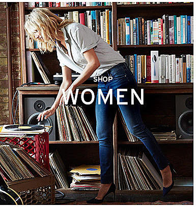 woman in Levi's clothing shop women