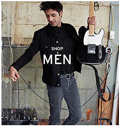 man in Levi's clothing shop men