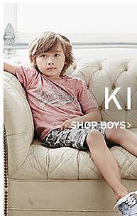 boy in Levi's clothing shop boys