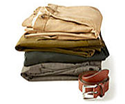 An assortment of Polo Ralph Lauren pants shop pants.