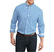 A man wearing a Saddlebred button-front shirt shop casual shirts.
