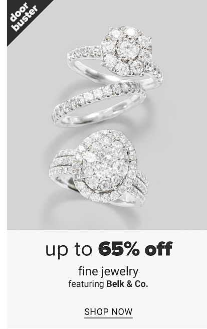 Three white gold diamond rings. Doorbuster, up to 65% off fine jewelry featuring Belk and Co., shop now.