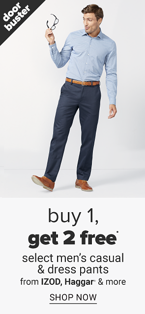 BOGO men's pants. Shop now.