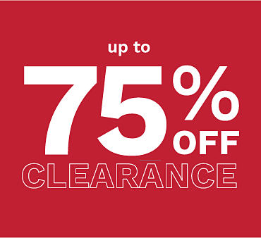 Up to 75% off kids' clearance.