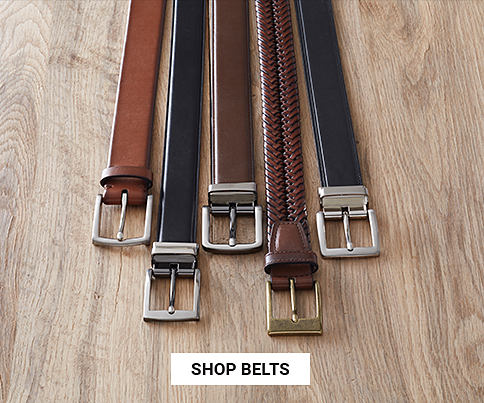 An assortment of belts in a variety of colors & styles. Shop belts.