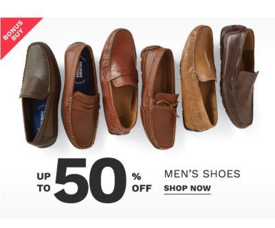 Bonus Buy - Up to 50% off men's shoes. Shop Now.