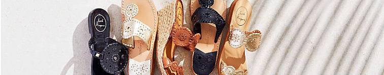An assortment of Jack Rogers sandals.