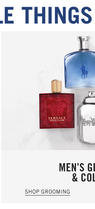 An assortment of men's cologne bottles in a variety of colors & styles. Men's Grooming & Cologne. Shop grooming.
