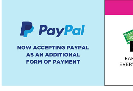 Now accepting Paypal as an additional form of payment.