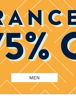 Clearance. Up to 75% off. Shop men.