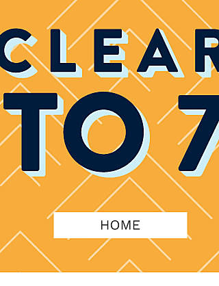 Clearance. Up to 75% off. Shop home.