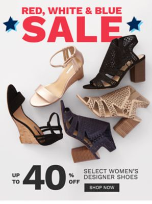 Red, White & Blue Sale - Up to 40% off select women's designer shoes. Shop Now.