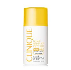 A bottle of Clinique sunscreen. Shop SPF.