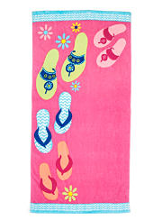 A colorful print beach towel. Shop beach towels.
