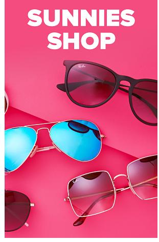 Various designer sunglasses. Sunnies Shop.