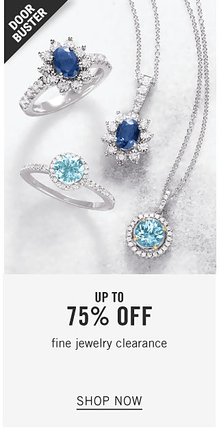 An assortment of silver, diamond & blue diamond rings & pendant necklaces. Doorbuster. Fine Jewelry Clearance. Up to 70% off. Shop now.
