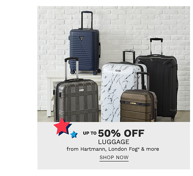 An assortment of hardside wheeled suitcases in a variety of colors & styles. Up to 50% off luggage from Hartmann, London Fog & more. Shop now.