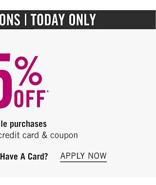 Limited Exclusions. Today Only. Extra 25% off regular & sale purchases with Belk Rewards credit card & coupon. Get coupon. Don't have a card. Apply now.