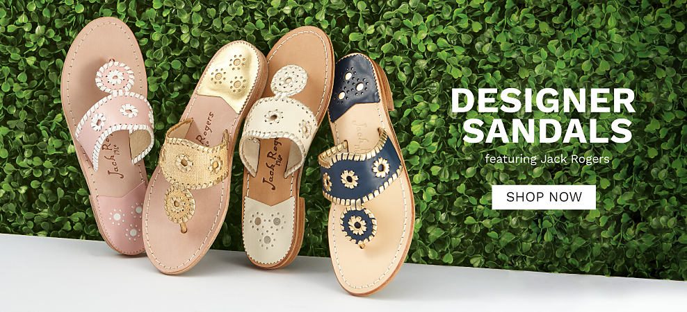 an assortment of Jack Rogers women's sandals in a variety of colors & styles. Designer Sandals featuring Jack Rogers. Shop now.