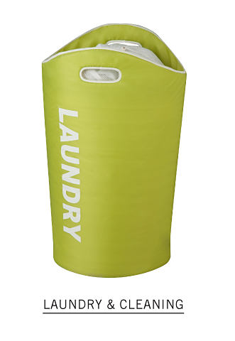 A green laundry basket. Shop laundry and cleaning.