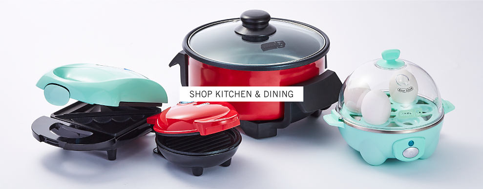 A variety of kitchen appliances. Shop kitchen and dining.