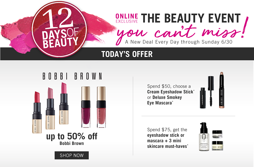 b7c9b759fc 12 days of beauty. Online exclusive. The beauty event you can't miss