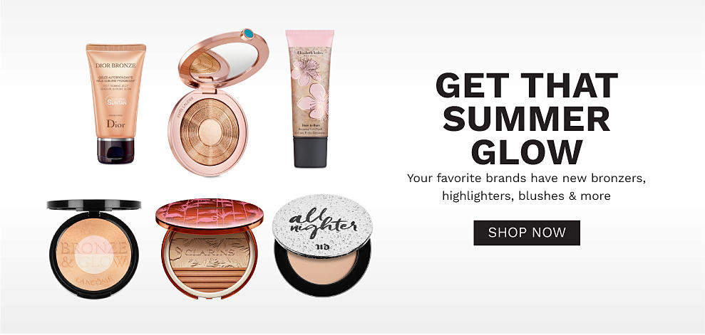 A variety of bronzers, highlighters and blushes. Get that summer glow. Your favorite brands have new bronzers, highlighters, blushes and more. Shop now.