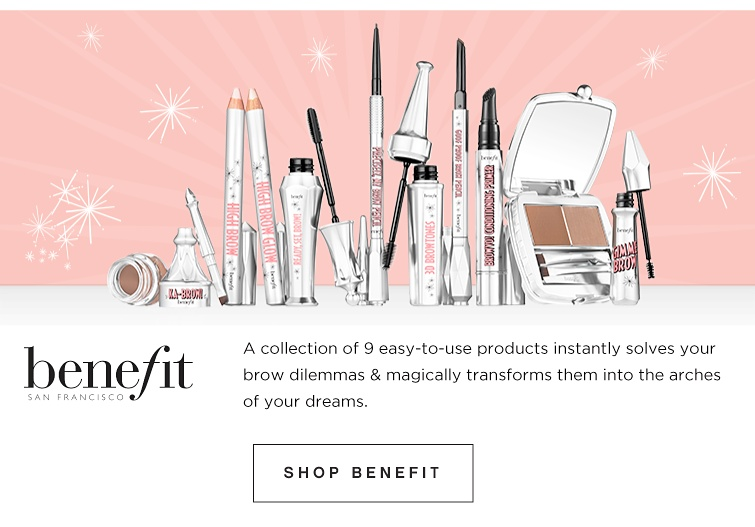 Benefit _ A collection of 9 easy-to-use products instantly solves your brow dilemmas & magically transforms them into the arches of your dreams. Shop Benefit