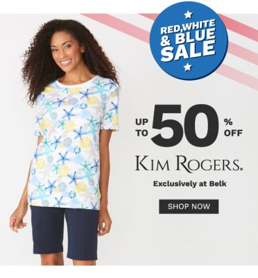 Rd, white and blue sale. Up to 50% off Kim Rogers® exclusively at Belk. Shop now.
