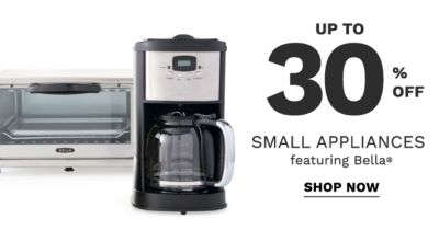 Up to 30% off small appliances featuring Bella®. Shop now.
