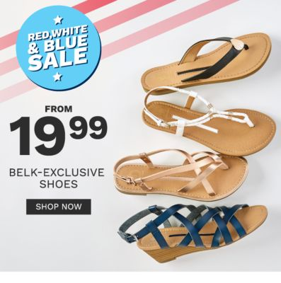 Red, white and blue sale. From 19.99 Belk-exclusive shoes. Shop now.