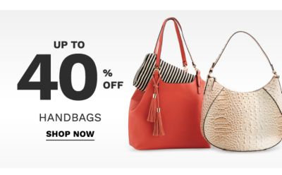 Up to 40% off handbags. Shop now.