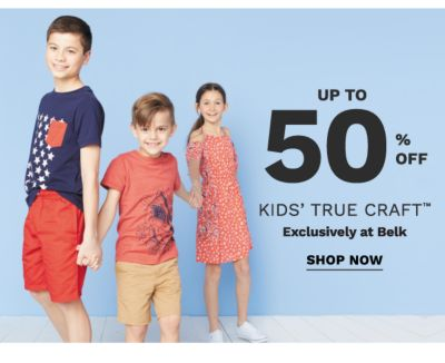 Up to 50% off kids' True Craft™ exclusively at Belk. Shop now.