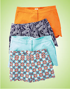 A collection of cute summer shorts in a variety of colors.