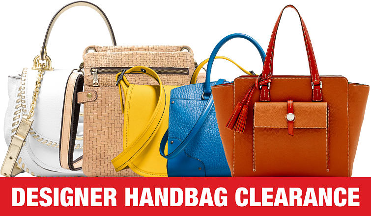 An assortment of summer handbags.