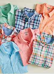 An assortment of button-front shirts. Shop casual shirts.