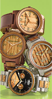 Four Original Grain men's watches. Shop men's watches.