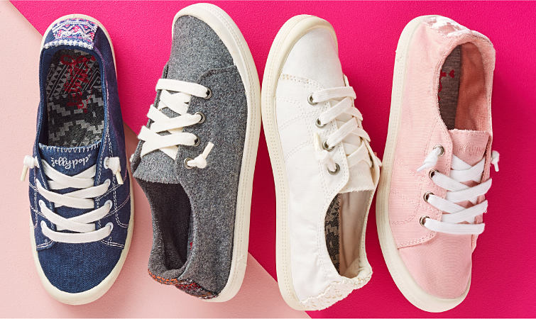 An assortment of fashion sneakers.