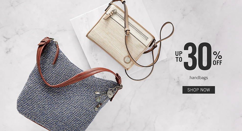 fc3489414466 A grey woven handbag with brown leather handle & a white crossbody handbag  with beige strap