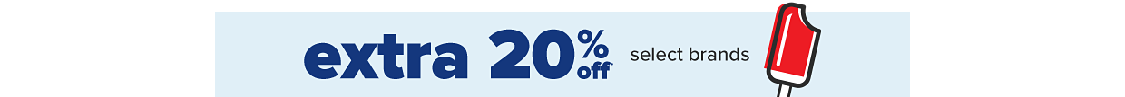 Extra 20% off select brands.