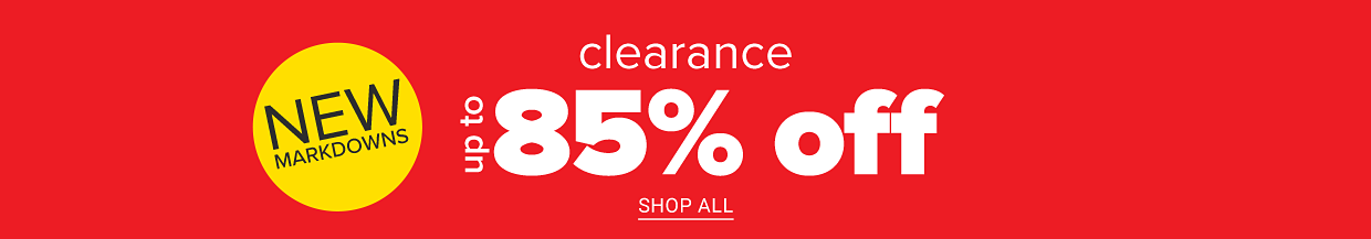 New markdowns! Clearance up to 85% off. Shop all. Plus, online only, extra 10% off clearance purchases. Get coupon.
