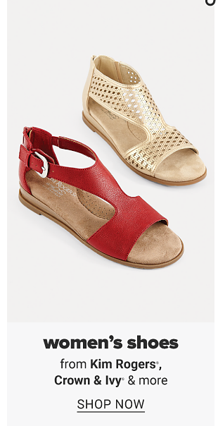 A red sandal and a gold tone sandal. Women's shoes from Kim Rogers, Crown and Ivy and more. Shop now.