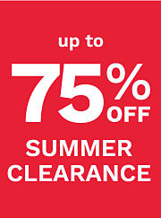 Up to 75% off summer clearance. Shop clearance.