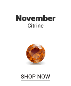A citrine gem stone. November. Citrine. Shop now.
