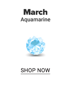 An aquamarine gem stone. March. Aquamarine. Shop now.