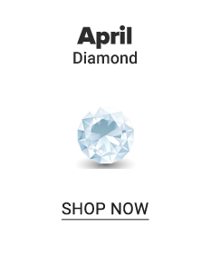A diamond. April. Diamond. Shop now.