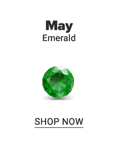 An emerald gem stone. May. Emerald. Shop now.