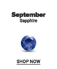 A sapphire gem stone. September. Sapphire. Shop now.