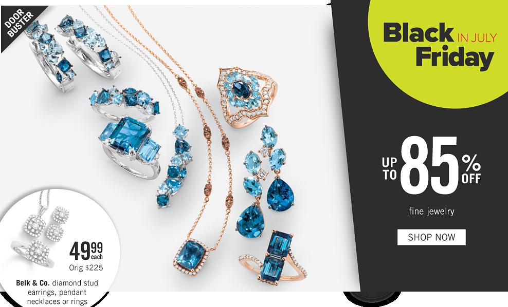 c5eba0971941bc An assortment of gold, silver, diamond & blue diamond rings, earrings &  pendants